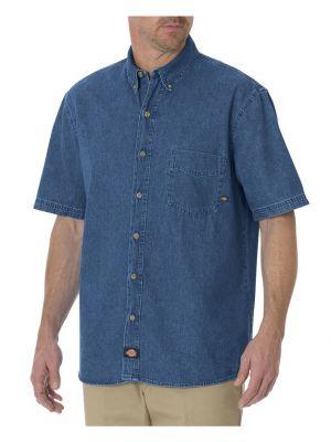 Dickies Mens Short Sleeve Denim Shirt WS300